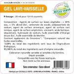 Etiquettes réglementaires Gel Lave-Vaisselle x50 - Bulle Verte