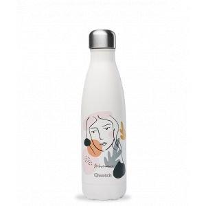 Bouteille isotherme - 500ml - WOMAN - Blanc crème - Qwetch