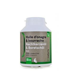 Huile d'onagre & bourrache - 180 capsules - 500 mg - B'Onaturis