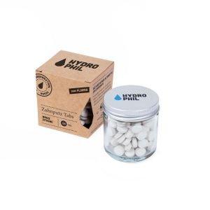 Pastilles de dentifrice - Menthe / Citron - 130 pièces - sans fluor - Hydrophil