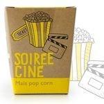 Kit message Maïs Pop Corn Soirée Ciné - Radis et Capucine