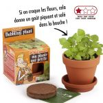 Kit terre cuite 8 cm Explore nature Plante qui pétille - Radis et Capucine