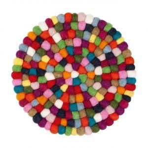 Dessous-de-plat feutre rond multicolor - Scout