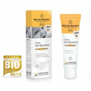 Crème ultra-réparatrice bébé certifiée bio 20% miel de manuka IAA15+ - comptoirs et compagnies