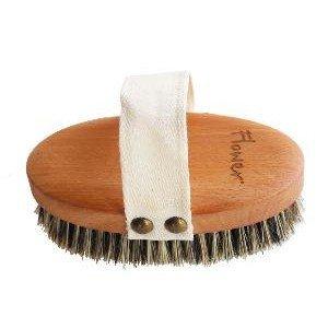 Brosse massage FSC hêtre et crin de cheval, fibres d'agave - Anaé