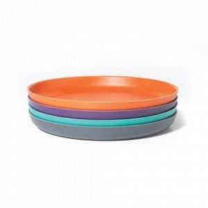 Set Assiettes Moyennes / Bambino - Lagoon, Persimmon, Prune, Smoke - BIOBU