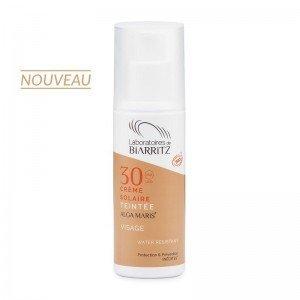 Crème solaire visage teintée SPF30 certifiée bio - Biarritz