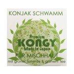Éponge Konjac à l'argile verte & Thé vert - KONGY