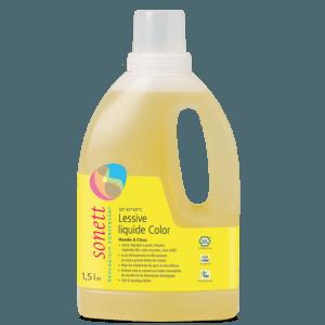 Lessive liquide couleur menthe & lemongrass 1,5 l Sonett