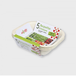 5 barquettes compostables 1-2 portions