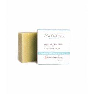 Savon visage purifiant à l'argile verte - Cocooning
