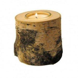 Bougeoir tronc d'arbre 10 cm
