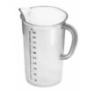 Mesure en plastique, translucide 500 ml