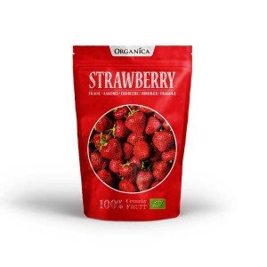 Crunchy fruit - Fraise lyophilisé bio - Organica