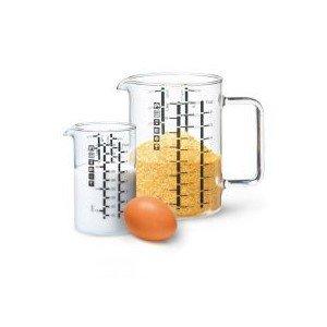 Set de 2 verres mesureurs 1 L et 500 ml - Ecodis
