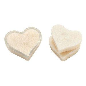 Bougie cœur ivoire avec support - Ecodis