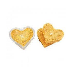 Bougie cœur jaune d'or avec support - Ecodis