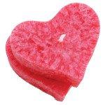 Bougie cœur rouge avec support