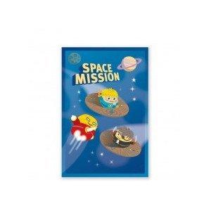 8 cartes invitations Space mission - Pirouette Cacahouète