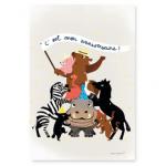 8 cartes invitation Pyramide animaux - Pirouette Cacahouète