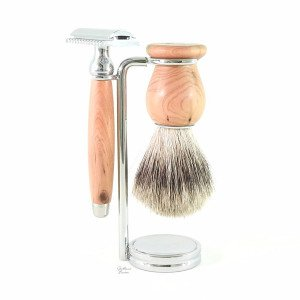 Coffret 3 pièces rasoir de sécurité bois de cade - Gentleman Barbier