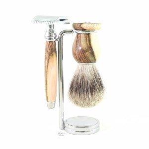 Coffret 3 pièces rasoir de sécurité pistachier - Gentleman Barbier