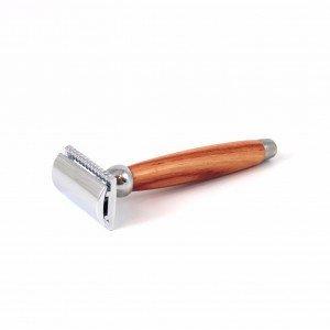 Rasoir de sécurité avec manche en bois de rose - Gentleman Barbier