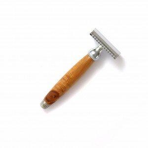 Rasoir de sécurité avec manche en bois de cade - Gentleman Barbier