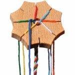 Etoile de tressage en bois - Ecodis