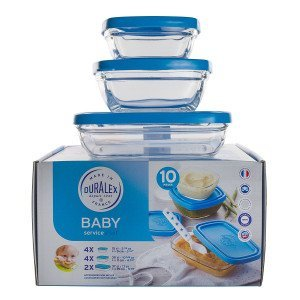Set bébé 10 contenants verre / couvercle - Duralex