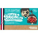 Kit Maquillage 3 couleurs pirate & coccinelle BIO - Namaki