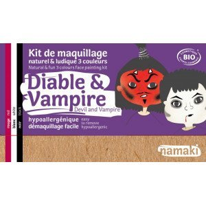 Kit Maquillage 3 couleurs diable & vampire BIO - Namaki