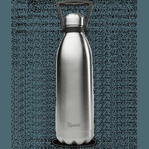 Bouteille isotherme inox avec poignée de portage - inox brossé - 1,5 L - Qwetch