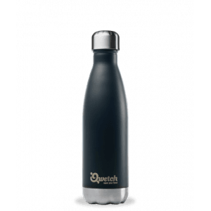 Bouteille isotherme inox noir 500ml - Qwetch