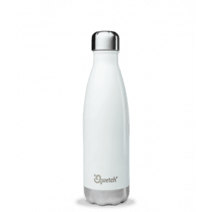Bouteille isotherme inox Blanc brillant 500ml - Qwetch
