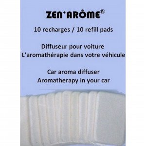 10 buvards pour Diffuseur voiture DIFCAR - Zen'Arôme