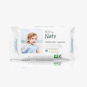 Naty lingettes sensitive sans parfum - 100% biodégradable - 56 pcs