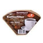 Boîte 120 filtres papier à café N°4 - Ecodis