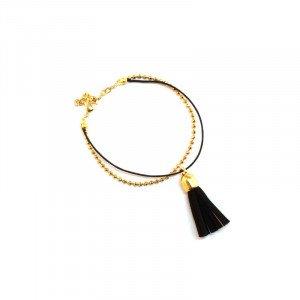 Bracelet Anna - Doré, Noir - Millescence