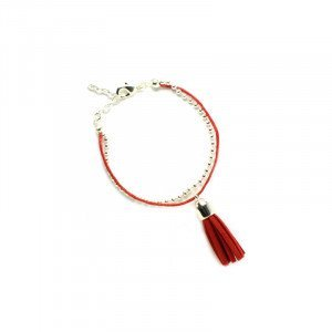 Bracelet Anna - Argenté, Rouge - Millescence