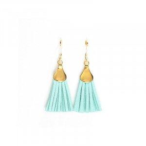 Boucles d'oreilles Lilou - Doré, Turquoise - Millescence