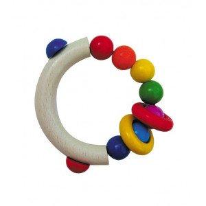 Hochet demi-cercle avec perles