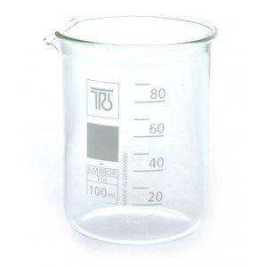 Bécher en verre 100 ml gradué jusqu'à 80 ml - AromaCos