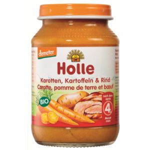 Petit pot carotte, pomme de terre et boeuf Demeter 190 g - Holle