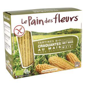 Tartines craquantes au maïs Bio 150 g - Le pain des fleurs